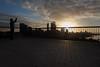 Kings Park, Perth (Mikey Down Under) Tags: perth wa westernaustralia city kingspark sunrise skyline rails railing shadows silhouettes man panoramic view photographer
