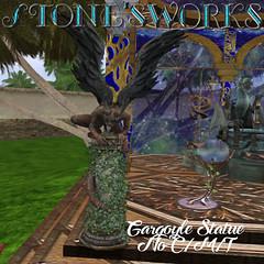 Pillar Gargoyle Stone's Works_texture (darkstoneaeon2) Tags: gargoyle fantasy roleplay secondlife stonesworks