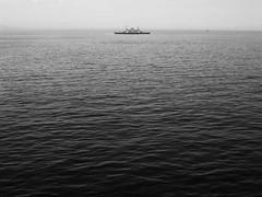 Away (dilaynurtezgul) Tags: ship sea water minimal travel travelling life istanbul turkey bnw blackandwhite black white journey trip freedom tiny small away minimalism boat sky ocean bay