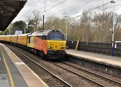 67023 & 67027 at Morpeth (stephen.lewins (1,000 000 UP !)) Tags: colas class67 67023 67029 skips railways ecml morpeth northumberland