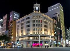 Ginza at Night, Tokyo, Japan (globetrekimages) Tags: tokyo japan city urban building architecture ginza night nightshot