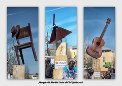 Art in the Market (mickyman13) Tags: andalusia sombrero chair classicalguitar canon cannoneos60d eos eos60d 60d 60deos fuengirola fuengirolacostadelsol fuengirolamarket costadelsol andalusiaspain spain art artinthecity sculpture rusty rust rustyandcrusty