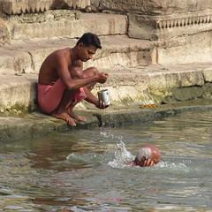 varanasi 2017 (gerben more) Tags: ritual ganges ganga water man men varanasi benares ghat people india
