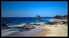 Last House On The Right (Seeing Things My Way...) Tags: glasshouserocks narooma coast beach rocks seaside ocean shoreline shore blue horizon nsw australia