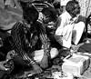 In deep thought (magiceye) Tags: thinking people street streetportrait streetphoto fleamarket mumbai india monochrome bnw blackandwhite