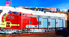 The Santa Fe Railroad Lives on. (Woodypug) Tags: art kingman arizona us66 motherroad atsf railroad