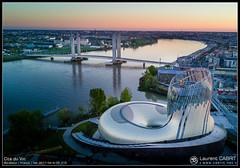La Cité du Vin et le Pont Chaban Delmas de Bordeaux (Laurent CABRIT) Tags: drone techniquephoto bordeaux nouvelleaquitaine france fra