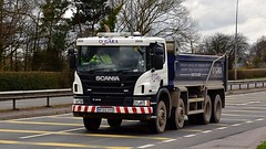 MT65 HYO (Martin's Online Photography) Tags: scania p410 truck wagon lorry vehicle freight haulage commercial transport a580 leigh lancashire nikon nikond7200 bulk tipper