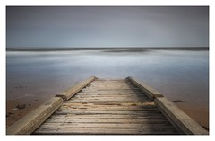 Exit East. (calumarchibald) Tags: fifecoastalpath fife tide canon6d northsea sea sand longexposure 10stopfilter bigstopper seascape scotland standrews jetty