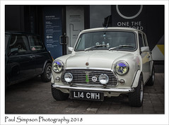 Mini L14 CWH (Paul Simpson Photography) Tags: paulsimpsonphotography imageof imagesof car carphotography sonya77 transport photoofphotoof mini paulsmith designer lincoln carshow lincolnbigminiday 2018 outdoorphotography lincolnshire british white whitecar smallcar city transportshow tyres headlights