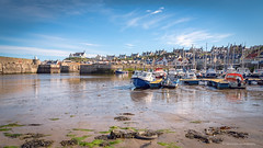Low tide... (moraypix) Tags: red findochty findochtyharbour springtime lowtide boats churchonthehill moraypixphotography jimmacbeath harbour