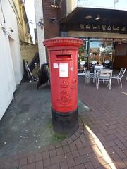High Green, Cannock - red post box - ER VII - WS11 212 (ell brown) Tags: cannock staffordshire england unitedkingdom greatbritain cannockchase tree trees highgreen postbox redpostbox ervii eviir postoffice royalmail ws11212 barsport