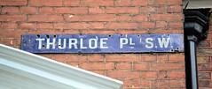 Thurloe Place (R~P~M) Tags: sign london england uk unitedkingdom greatbritain street name enamel blue vitreousenamel southkensington