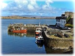 Roundstone, Co. Galway. (willieguildea) Tags: roundstone galway ireland eire harbour port quay boat boats fishingboats coast coastal nikon sea water waterscape sky clouds landscape bay