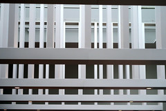 Could This Be a Fence? (YIP2) Tags: street fence hff city urban minimal architecture white minimalism line lines stripes simple less linea detail geometry pattern design details abstract construction repetition urbandetail