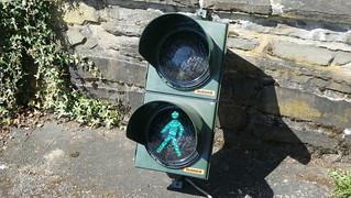 Dambach LED Pedestrian Signal with old Garufo 1 LED Modules
