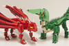 Frunem, The Green (Ben Cossy) Tags: lego dragon moc mocing youtube instructions how to beast fantasy skyrim youtuber elves elf knight got game thrones mixel joints green red afol tfol
