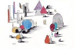 Endroit insolite (J-M.I) Tags: aquarelle art house architecture watercolour dessin illustration graphisme artiste exposition