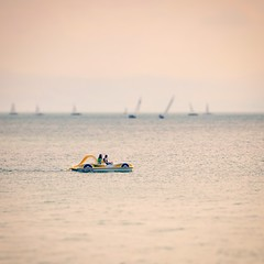 Bodensee traffic (DrQ_Emilian) Tags: lake water boat sailboat pedalboat landscape view fun outdoors light colors details mood sunlight travel visit explore friedrichshafen bodensee badenwürttemberg germany photography hobby far bokeh