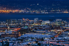 twilight over mission bay (pbo31) Tags: sanfrancisco california nikon d810 night dark march 2018 spring boury pbo31 lightstream motion traffic roadway tankhill clarendonheights over view city urban split overpass missionbay soma rooftops bluehour bay 101 80 somisspo