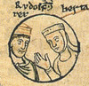 Rudolph III of Burgundy nd his sister Bertha (Historystack) Tags: deaths france capetiandynasty historyoffrance government earth europe middleages 11thcentury february2 solarsystem 1030s rudolphiiiofburgundy year1032 milkyway