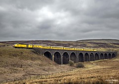 43013 and 43014 at Dandry Mire on 14 Apr 18 (John_Hales) Tags: rail railway train trains carlisle settle locomotive ribblehead bleamoor steam northernrail wcrc yorkshire garsdale dandrymire viaduct hst derby rtc heaton eastlancsrailway cfps class40preservationsociety whistler englishelectric bury elr 40122 d200 d213 40013 andania 40106 atlanticconveyor 40012 aureol 40135 40145 d345 345 networkrail lancashire class40 loco lostockhall bamberbridge preston colas class60 g60 railroad lostockhalljn