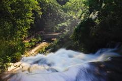 Down Into the Valley (BlueShift 12) Tags: falls minnesota minneapolis waterfall water creek rapids longexposure ndfilter mist trees green canoneos5dmarkii rawtherapee