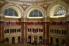 Library of Congress: Reading Hall (Marianna Gabrielyan) Tags: library congress books architecture columns windows indoor washington dc