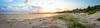 Hawks Nest, NSW (Oliver York) Tags: yellow hawks nest new south wales nsw australia beach sand tracks grass sunset sky clouds panorama landscape