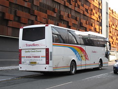 Travellers Choice PO14HHV (TheTransitCamera) Tags: manchester england uk unitedkingdom city urban citycentre transportation transport travel transit railreplacement travellerschoice po14hhv jonckheere