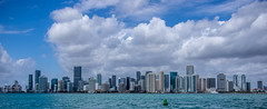 Miami Skyline from Biscayne Bay (Lucky Snap) Tags: miami biscaynebay boats water sun fun tropical