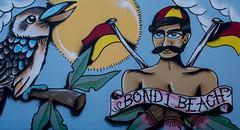 bondi beach street art (Greg Rohan) Tags: nsw australia kookaburra spraypaintart spraycanart aerosolart urbanwalls urbanart urban paintedstreetwalls paintedstreetart artist artwork arte streetart sydney bondibeach bondi d750 2018 nikon nikkor