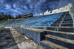 Rubber Bowl (Brook-Ward) Tags: hdr brook ward university akron zips rubber bowl stadium venue oh ohio stairs seats ue urban urbex exploration abandoned abandonment old decay grime
