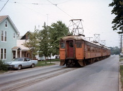 South Shore 14 Michigan City 1979 (jsmatlak) Tags: chicago south shore line nictd electric railway train interurban indiana railroad