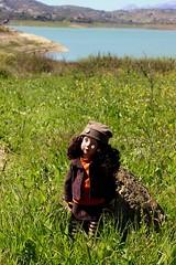 Leone enjoys the spring weather.... (dambuster01) Tags: zwergnase junior violet doll vinyl 50cm lakeviñuela malaga spain sunshine springtime