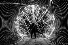 Pánico en el túnel (Yorch Seif) Tags: tunel nocturna nocturnal largaexposicion longexposure lightpainting d7500 tokina1116 fuego fire cohete