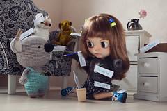 March of dolls. 27. Memory (three mice) Tags: marchofdolls2018 blythe tblblythe customblythe