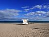 lifeguard hut (auroradawn61) Tags: sandbanks poole dorset march 2018 uk england seaside lumixlx100 britishseaside rnlilifeguardhut