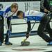 Brett Gallant and Geoff Walker sweeping, 2017 Tour Challenge, Regina, Sask