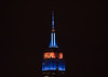 On #OpeningDay eve, the Empire State Building is lit in Mets blue and orange. #LGM (apardavila) Tags: lgm openingday esb empirestatebuilding hoboken manhattan nyc newyorkcity newyorkmets baseball skyline skyscraper