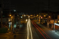Minimal car trails (AllanAnovaPhotos) Tags: laguna philippines pacita pacitacomplex sanpedro sanpedrolaguna walkway car trail cartrails cartrail lighttrail lighttrails pinoy filipino longexposure nightphotography night road highway cars jeeps tricycle midnight
