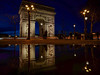 Arc de Triomphe (karinavera) Tags: city longexposure night photography cityscape urban ilcea7m2 france paris arcdetriomphe reflection