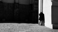 Jaffa (dariaalex) Tags: street shadow light people moment bw monochrome iphonography