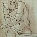PRIMATICE - Triptyque, Trois Hommes, un Mulet et un Âne auprès d'un Chargement (drawing, dessin, disegno-Louvre INV8574) - Detail 22