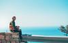 Ritiro (Sabrina-Romano) Tags: path gods old man dog view panorama nikond90 35mm italy sentiero degli dei agerola nocelle italia walking positano composition sea coast senior citizen people portrait portraiture sweetness