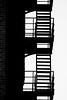 Stairs (PiotrTrojanowski) Tags: stairs black white bw blackandwhite monochrome outside contrast fire escape