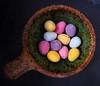 Ramekin and mini eggs (Durley Beachbum) Tags: 118picturesin201896 chocolate eggs stoneware ramekin