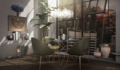 One day, or day one? (Trixie Lanley) Tags: elev8 illuminate fancydecor pixelmode lucaslameth paranoia secondlife homedecor loft dining art hive