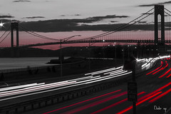 NONSTOP (BUSTER NYC) Tags: traffic long exposure canon 80 d highway bridge sun set cars light trails bklyn