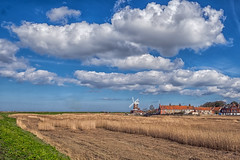 Cley North Norfolk (Geoffrey Tibbenham) Tags: north norfolk sky clouds countryside coast countryfile landscape cley reedbed coastalpath windmill winter openspace outdoors xt1 fuji ziess 12mm touit